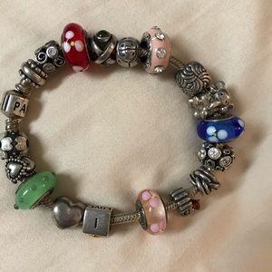 Pandora bracelet and Pandora charms